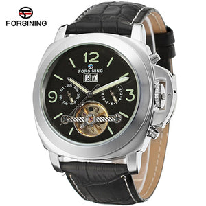 Luxury Brand FORSINING Auto Date Tourbillon Mechanical Watch Male Clock Designer Watches