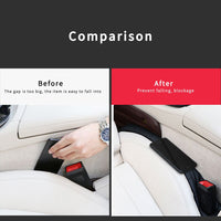 Car Seat Gap Pad For FIAT 500 ABARTH Car Accessories 2pcs PU leather Fillers Holster Spacer Filler Padding Protective Cover Pad