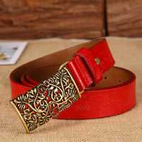 New ceinture female belt hand real leather women strap needle buckle casual style luxury female