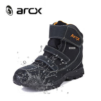 ARCX boot motorcycle waterproof Genuine Cow Suede Leather Street Moto Motorbike Chopper Cruiser motobotinki bottes moto