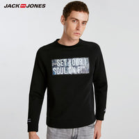 Jack Jones Brand New fashion casual o-neck space cotton fabric letter pattern pullover sweat men| 218333550
