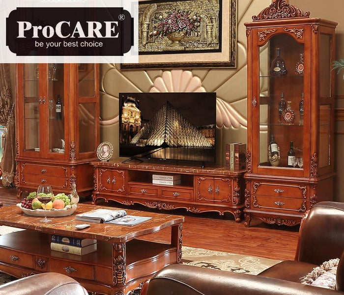 American Style Wine Cabinet Solid Wood Carving Single And Double Doors Living Room