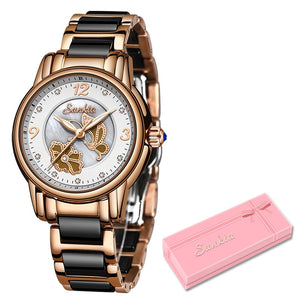 SUNKTA2019 New Listing Rose Gold Women Watches Quartz Watch Ladies Top Brand Luxury