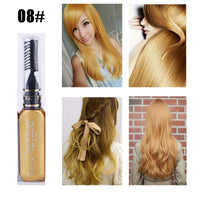 DIY hair color 13 colors Hair Dye Temporary one time hair color waterproof colorful mascara