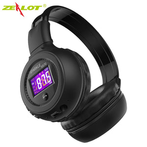 ZEALOT B570 Bluetooth Headphones with FM Radio LCD Screen Stereo Wireless Earphones Headset for Computer Phones Support TF card