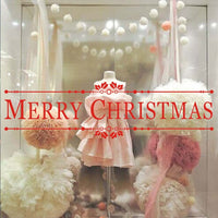 Merry Christmas Stickers For Living Room Store Window Christmas Decorations Accessories Festival Wall Art Decals Home Decor