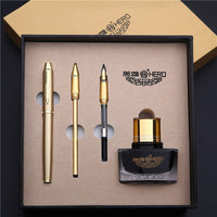 Hero fountain pen 1801 adult business office students use calligraphy practice to write calligraphy pen with 3 nibs