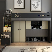 Nordic multi-functional mother bed modern minimalist high box wardrobe bed under the bed bunk bed