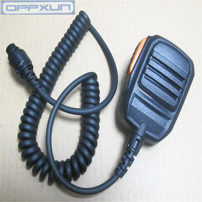 OPPXUN Walkie talkie accessories microphone for  HYT  MD780 MD785 RD980 radios (Black)