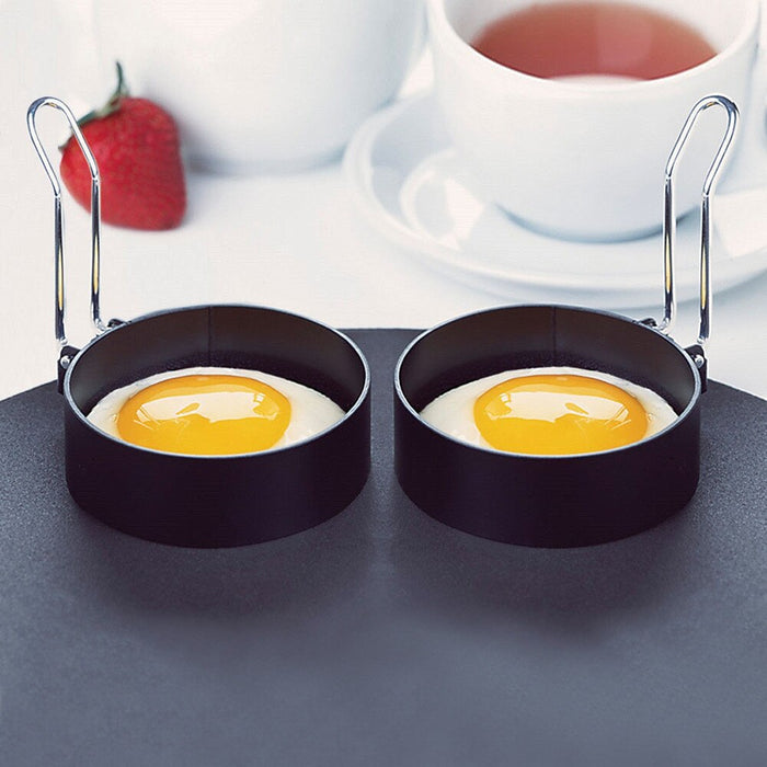 Saingace stainless steel fried egg shaper egg pancake ring 2 PCS mold u71127