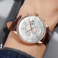 2019 Reef Tiger/RT Top Brand Luxury Automatic Watch Reloj Hombre Multi Function Rose Gold Fashion Watches Leather Strap RGA1699