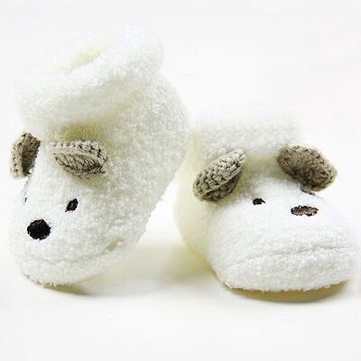 Warm Newborn Socks Unisex Baby Boy Girls Infant Cute Bear Crib Warm Shoes dfs (as picture)