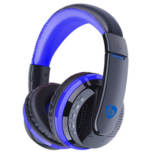 Over Ear Bass Stereo Bluetooth Headphone Wireless Headset Support Micro SD Card Radio