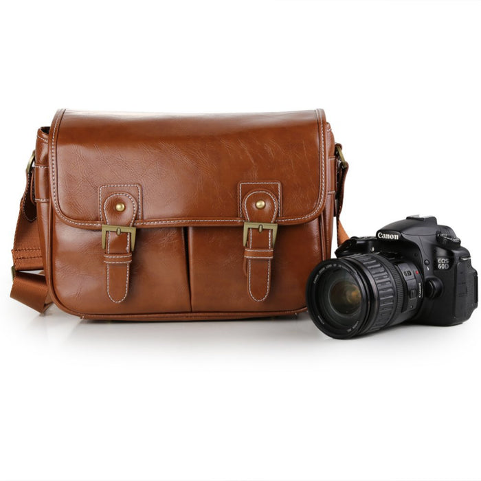 Retro PU Leather Waterproof DSLR SLR Camera Case DV Shoulder Bag For Nikon Canon Sony