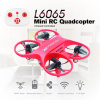 2.4GHz Drone Mini RC Quadcopter Toys Infrared Controlled Remote Control Drone L6065 Micro Pocket Drone With LED Light Kids Toys