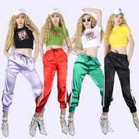 Fashion Women Hip Hop Dance Clothing DJ Exposed Navel Costumes Suit Jazz GoGo Rave Clothes Dancer Wear Roupa Feminina VDB089