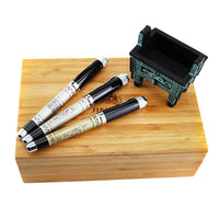 Jinhao189 Vintage Black Ink Rollerball Pens with Ancient Chinese Quadripod Wood Case Luxury Business Gift Ballpoint Pens