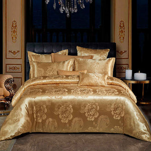 Euro Jacquard Bohemia Luxury Bedding Set Double Queen King Duvet Cover Flat Sheet Decorative