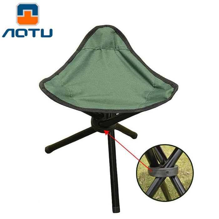 Outdoor Fishing Chair Portable Tripod Stool Folding Chair Camping Walking Picnic Garden