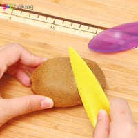 Shebaking 3pc/set Kiwi Spoon Plastic Candy Color Kiwi Dig Scoop Vegetable Fruit Knife Slicer Peeler Cutter Kitchen Tools