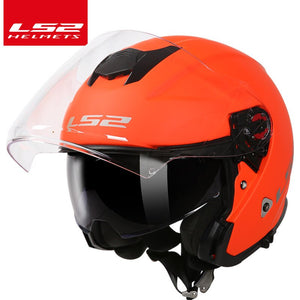 LS2 global store LS2 OF521 3/4 open face motorcycle helmet double lenses racing half helmets