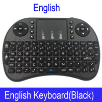 Russian Mini i8 Wireless Keyboard English Hebrew letters Air Mouse Remote Control
