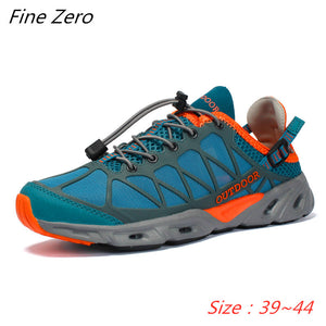 New Men Outdoor Sneakers Anti-skid Breathable Hiking Shoes Men Women Outdoor Hiking