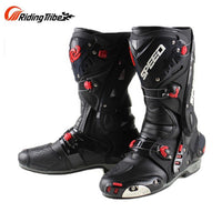 PRO-biker Upgrade Men's Motorcycle protective Boots SPEED Microfiber leather Racing Boots Motorbotas Riding Motorcycle boot