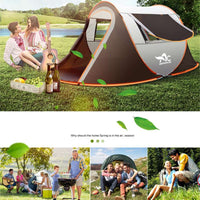 2-8 People Fully Automatic Camping Tent Windproof Waterproof Automatic Pop-up Tent Family Outdoor Instant Setup Tent 4 Season