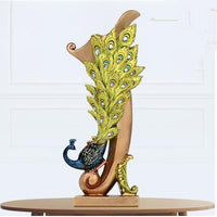 European style peacock sculpture crafts, creative wedding gifts, resin bird desktop decoration