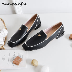 plus size 33-43 women's genuine leather slip-on flats loafers brand designer bowtie leisure espadrilles soft moccasins shoes hot
