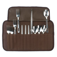 16Pcs/Set Flatware Outdoor Tableware Stainless Steel Cutlery Set Fork/Spoon Chospsticks
