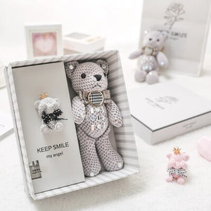 1set bear rabbit doll small fresh creative practical mother's day daughter son