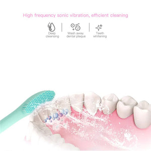 28000 times/min Sonic Vibration Electric Tooth Brush Deep Clean Teeth Remove Dental Stains Kids USB Rechargeable Toothbrush P47