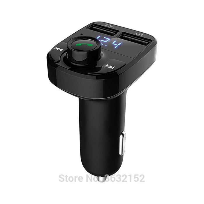 Car Bluetooth Charger Handsfree Car Kit FM Transmitter QC3.0 Car Accessories For fiat punto