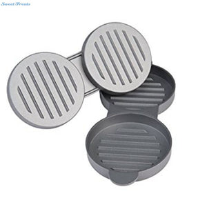 Sweettreat Aluminum Burger Press Hamburger Maker Non Stick Cakes Patty Mold  for BBQ Grill