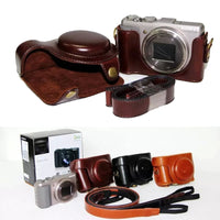 Retro Vintage PU Leather Camera Bag  case for Sony DSC-HX50V HX50 HX60 Camera Hard Shoulder Bag with Strap