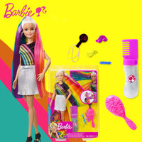Barbie Brand Newest Doll Toy Rainbow Sparkle Hair Doll Beautiful Girl Different Style Boneca Mode FXN96 For Birthday Gift