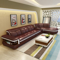 (2 seat 1 arm+lounge)modern bonded leather coner sofa with l shape  #CE-K04