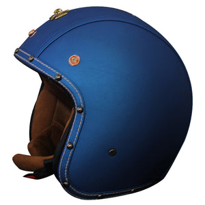 Vcoros PU leather vintage motorcycle helmet 3/4 open face Retro moto Helmets half face scooter jet vespa helmet M L XL