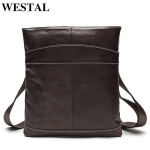 WESTAL Men's Bag Male Genuine Leather Crossbody Bags for Men Small Flap Messenger Bags Men Shoulder Bag Genuine Leather Handbags