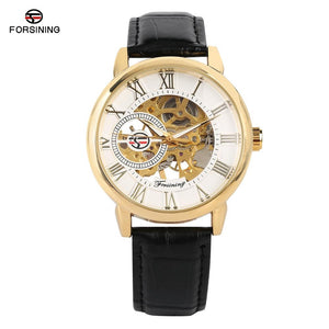Business Mens Hand-Wind Mechanical Watches Casual Skeleton Mechanical Watch