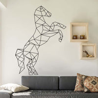 Creative Geometric Shape Horse Wall Sticker For Kids Room Animal Pattern Vinyl Art Mural Wall Decal Home Decoration Accessories