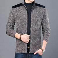 2020 Thick New Fashion Brand Sweater For Mens Cardigan Slim Fit Jumpers Knitwear Warm