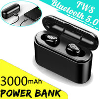 3000mah TWS X8s Wireless Bluetooth 5.0 Headset IPX7 Waterproof Mini Earphones Twins Earbuds 5.0 Stereo Headphones for Phone