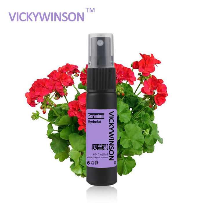 VICKYWINSON Geranium hydrolat 10ml Remove Relieve Pain Acne Clean Skin Relax Detox WC17 (10ml)