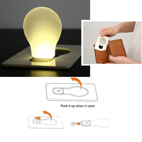 Lighting Portable Mini LED Card Pocket Light Bulb Lamp Credit Card Size Home Accessories