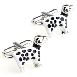Cufflinks Retail Style black and white paint style cufflinks nail sleeve 155895 free shipping+free gift box