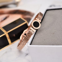 YUN RUO Fashion Jewelry Rose Gold Silver Color Luxury Roman Numerals Bangle Lover Cuff 316L Stainless Steel Woman Not Fade 2017