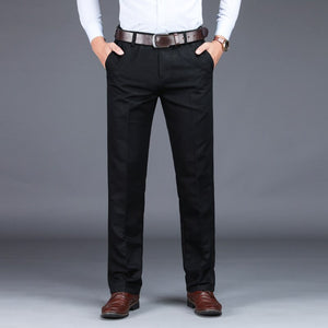 VOMINT 2020 Mens Suit pants Fashion Stretch Slim Straight Men Pant Anti Wrinkle Casual Business